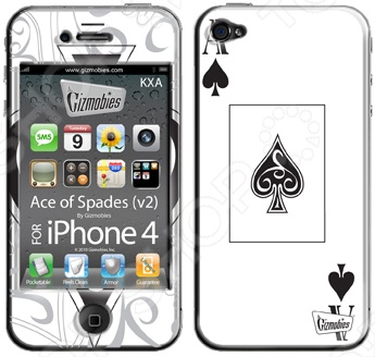 заказ Наклейка 3D для iPhone 4G Gizmobies Ace of Spades онлайн